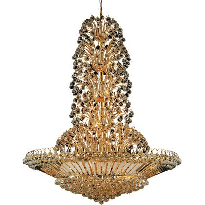 V2908G48G/EC Sirius 43 Light Gold Chandelier Clear Elegant Cut