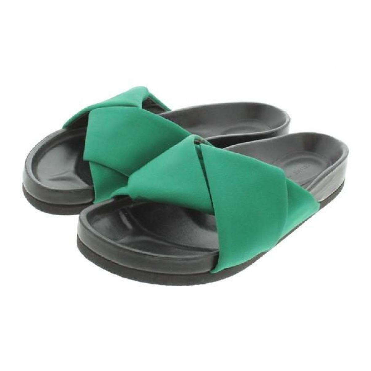 Celine - Sandales   pour femme en toile - vert