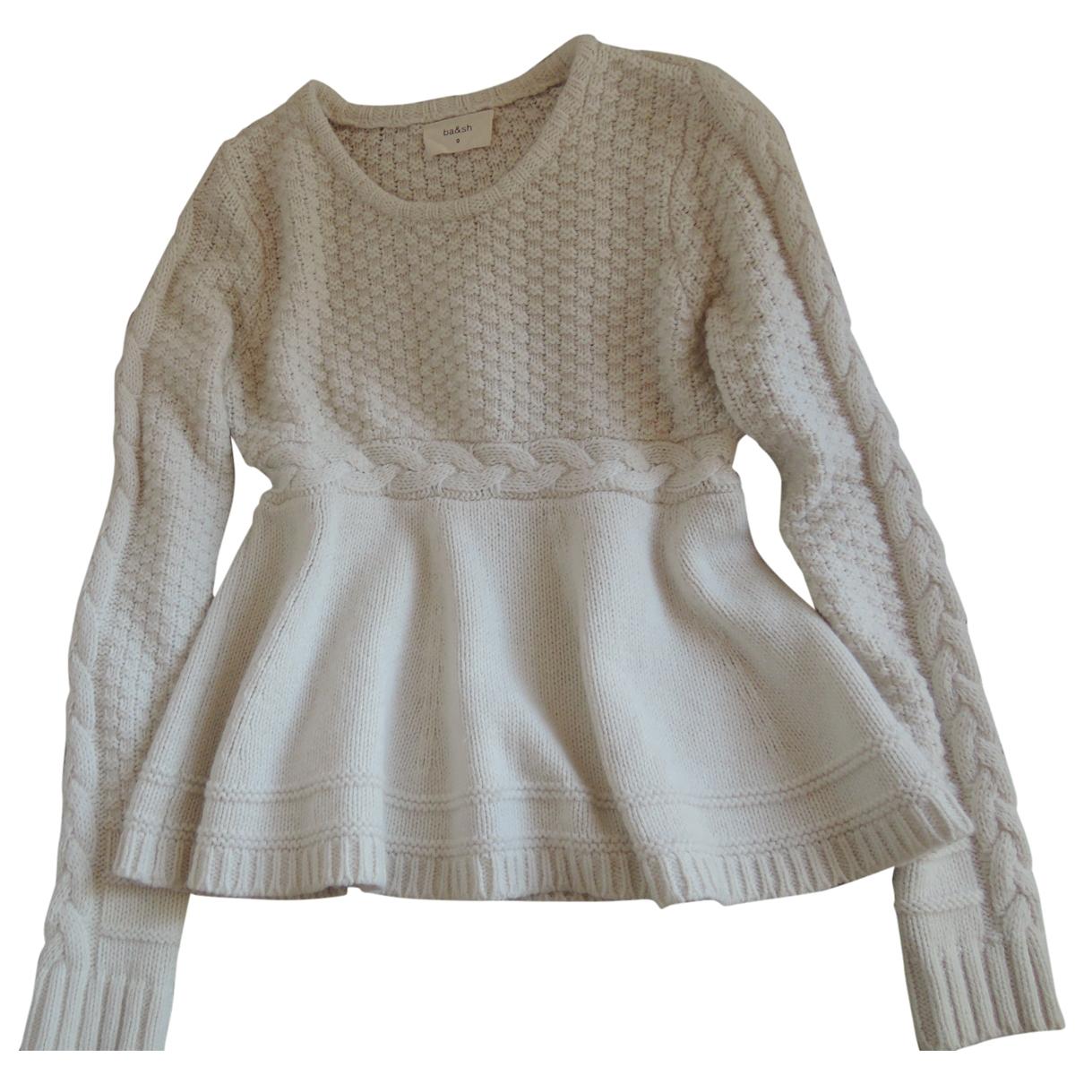 Ba&sh - Pull   pour femme en laine - ecru