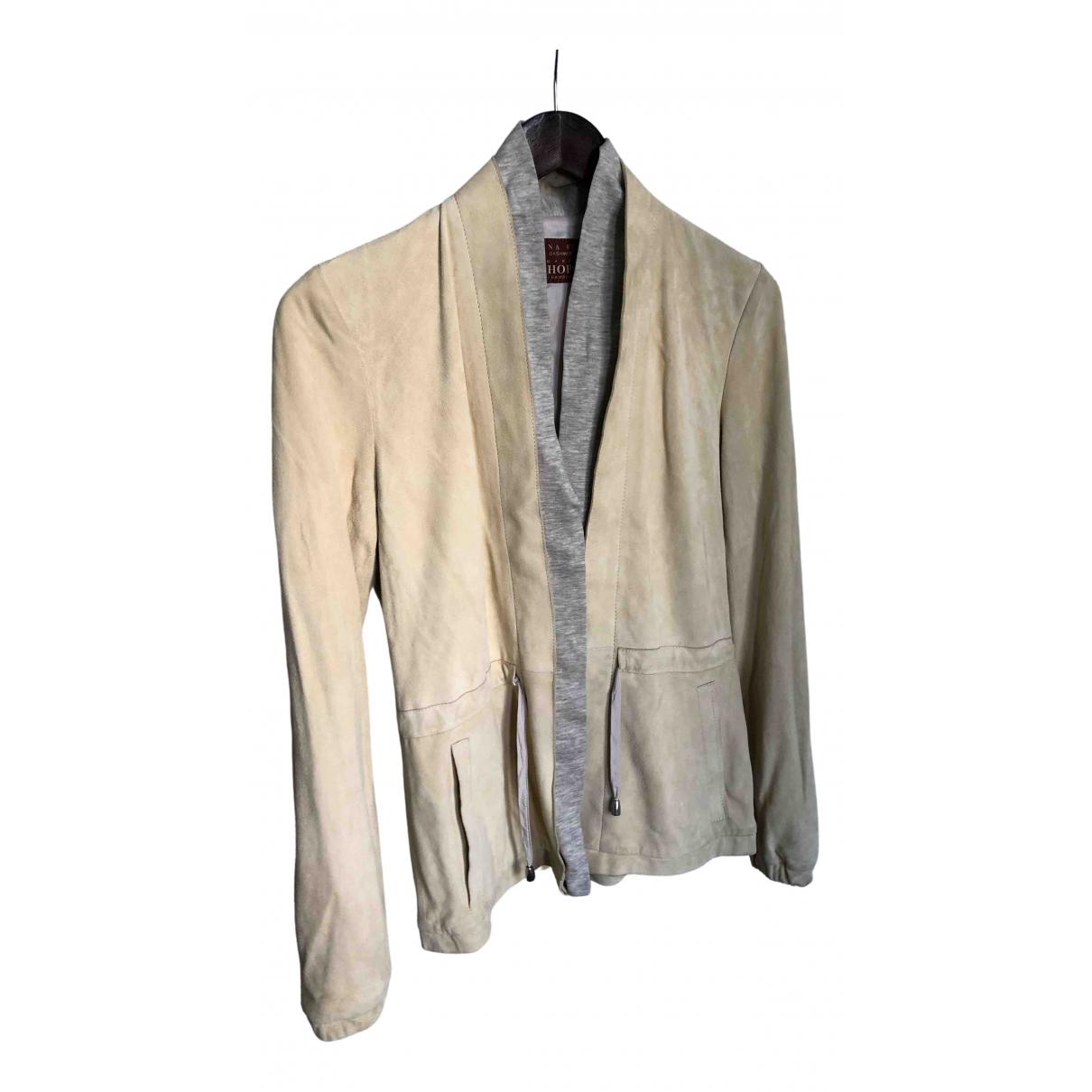 Fabiana Filippi - Veste   pour femme en cuir - blanc