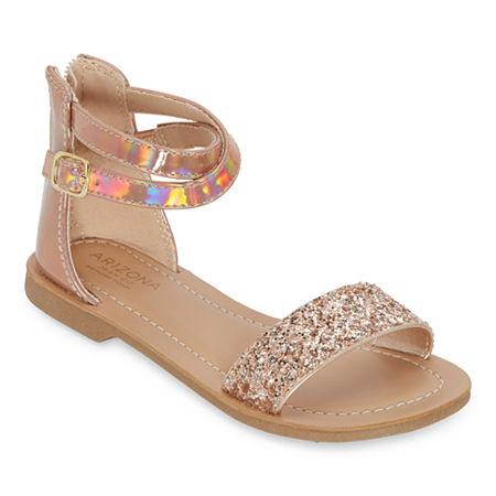 Arizona Little Kid/Big Kid Girls Katia Ankle Strap Flat Sandals, 13 Medium, Yellow