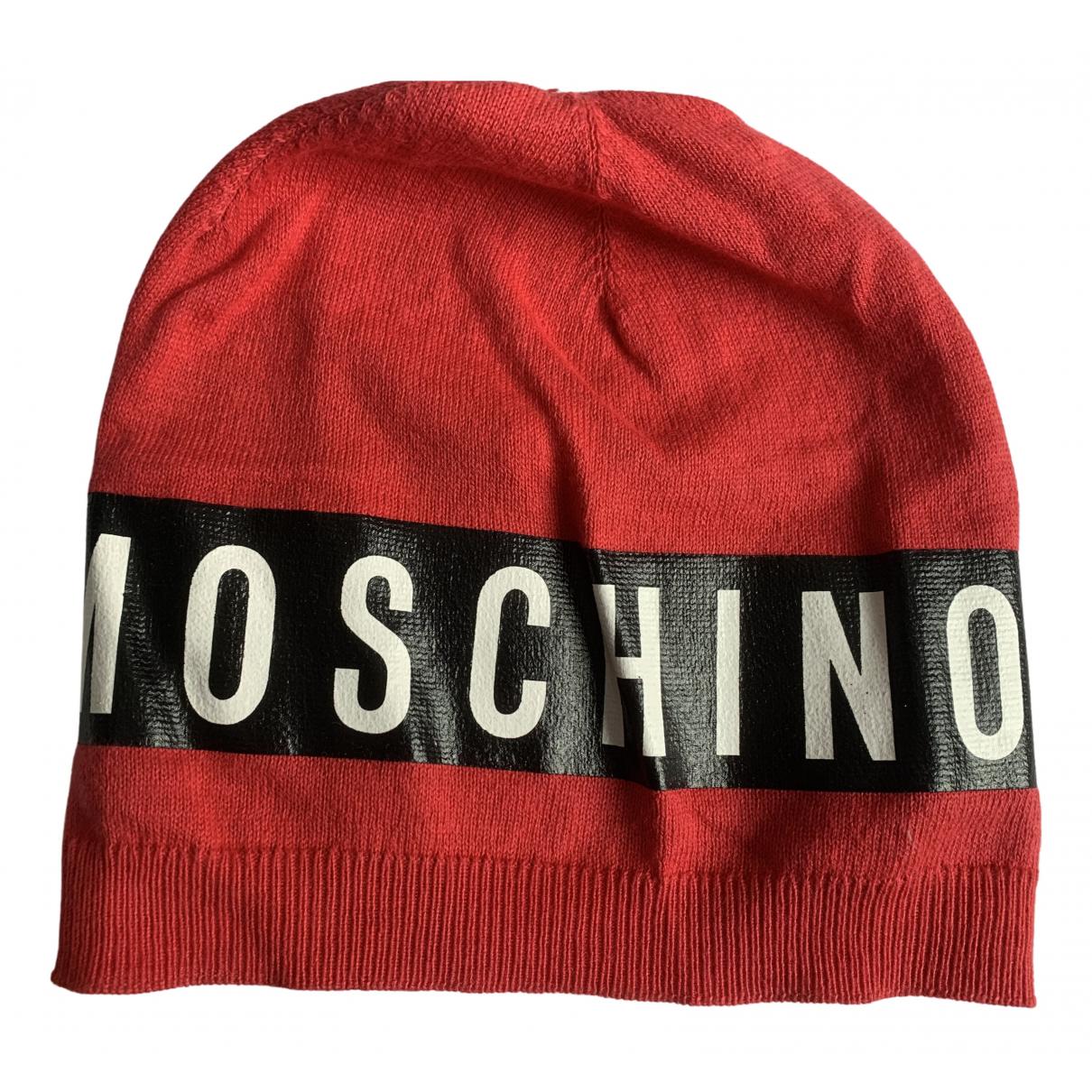 Moschino \N Hut, Muetzen, Handschuhe in  Rot Wolle