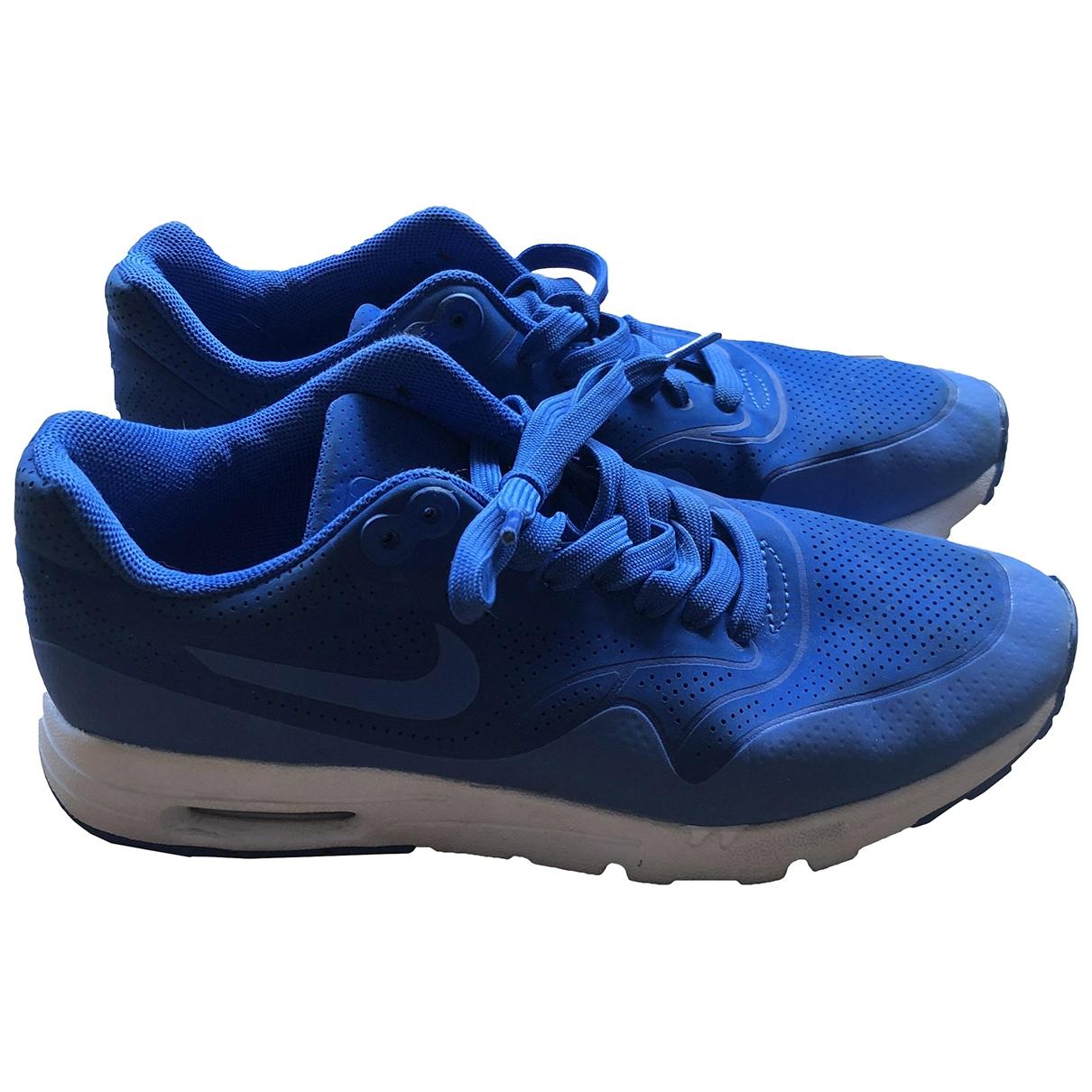 Nike Air Max 1 Sneakers in  Blau Leder