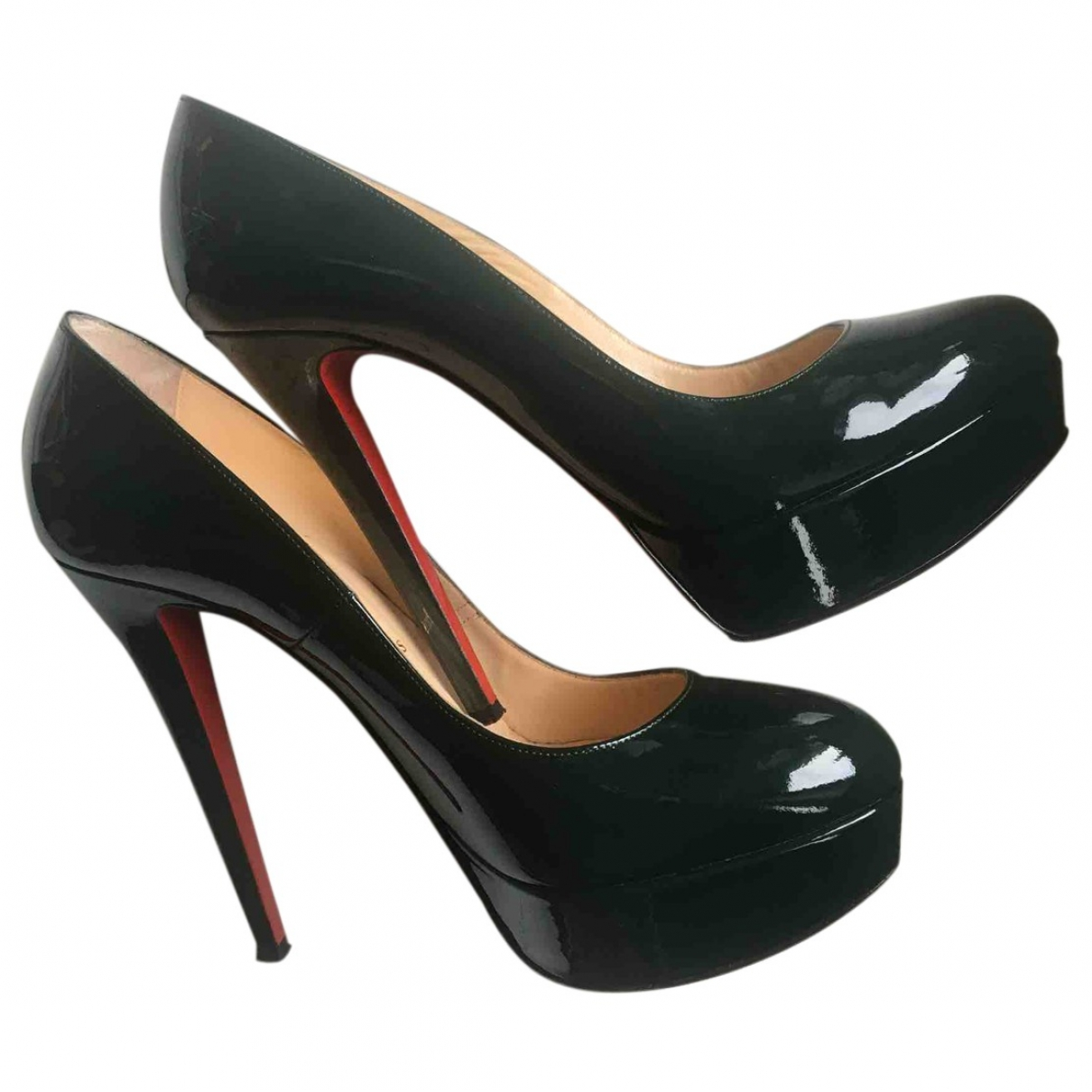 Christian Louboutin Bianca Pumps in  Gruen Lackleder