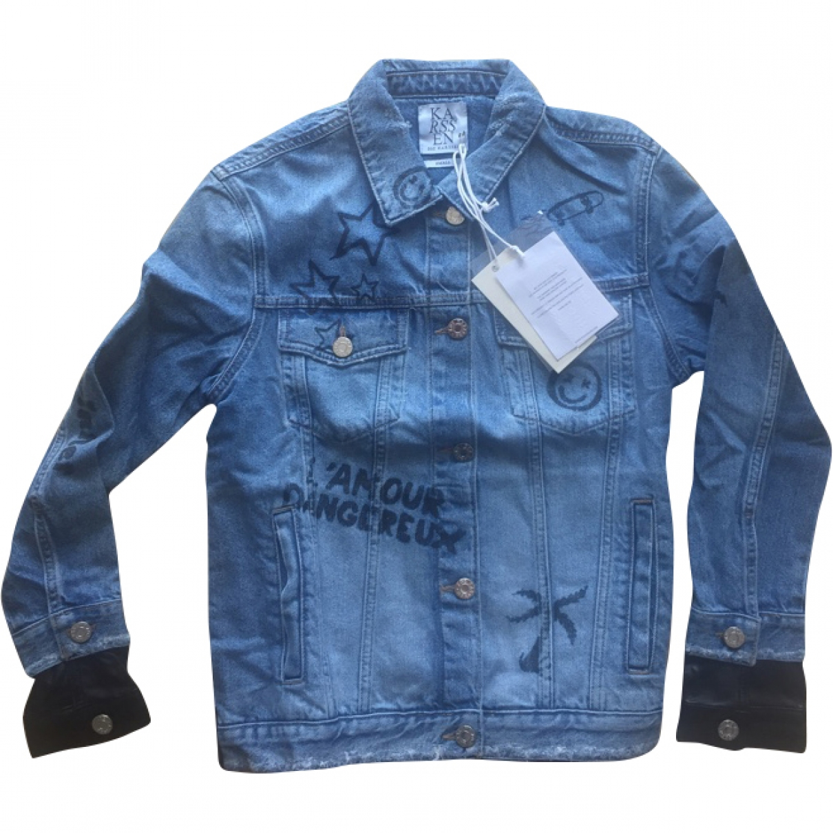 Zoe Karssen \N Jacke in  Blau Denim - Jeans