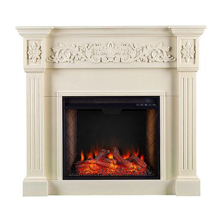 Southern Enterprises Electric Fireplace, One Size , White