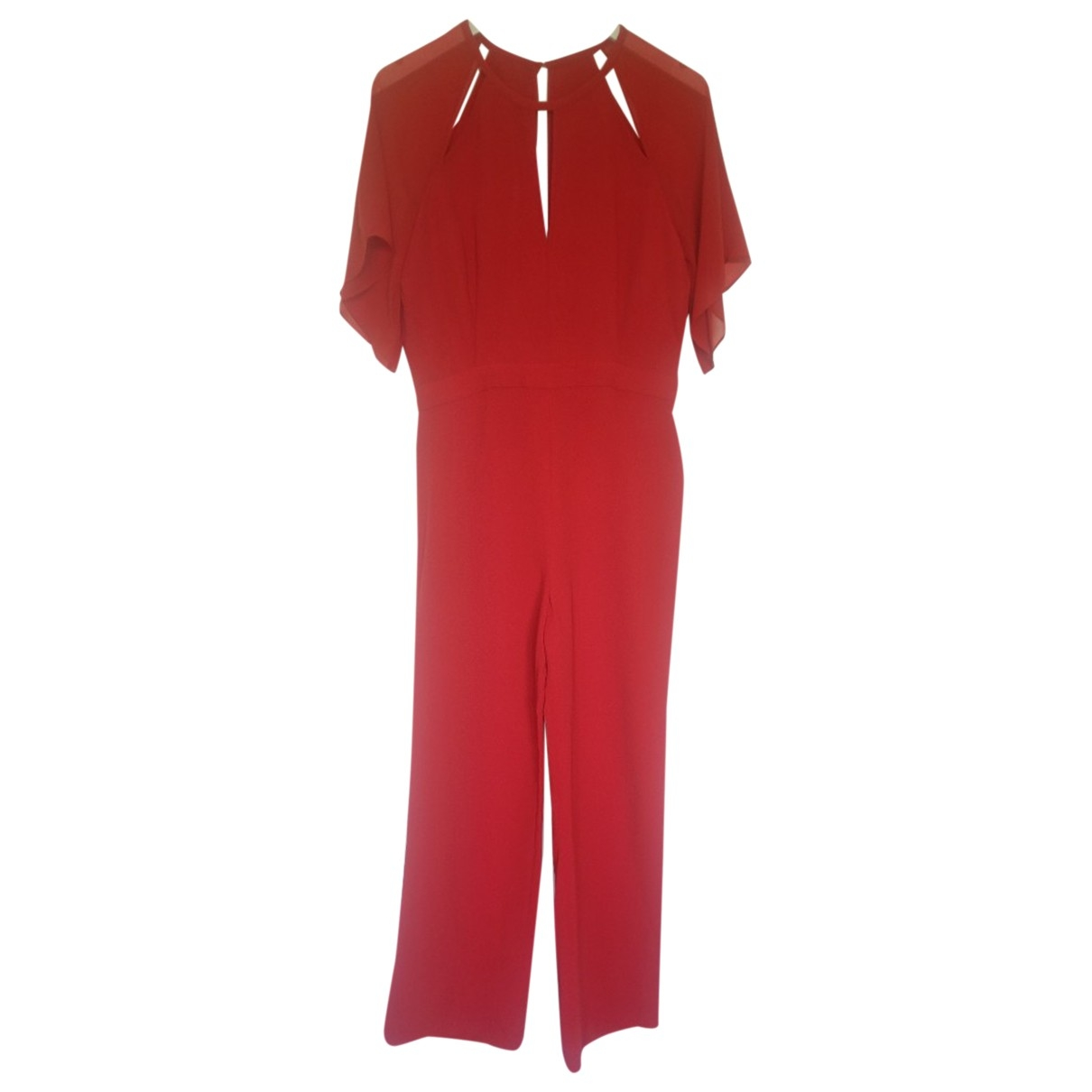 Reiss \N Jumpsuit in  Rot Polyester