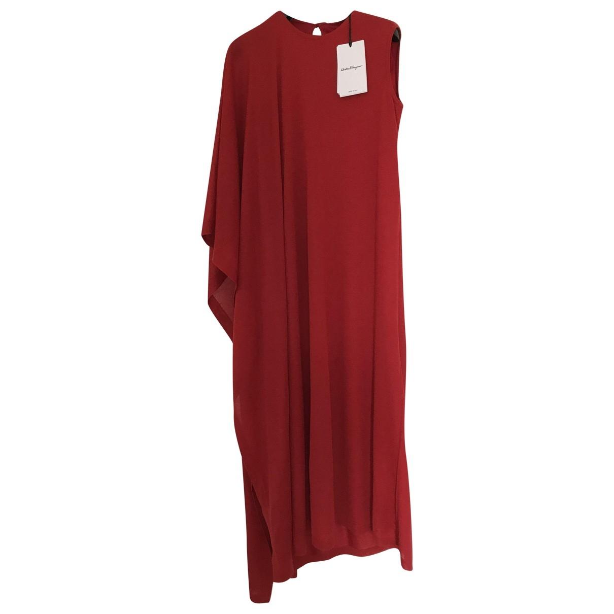 Salvatore Ferragamo - Robe   pour femme en cachemire - rouge