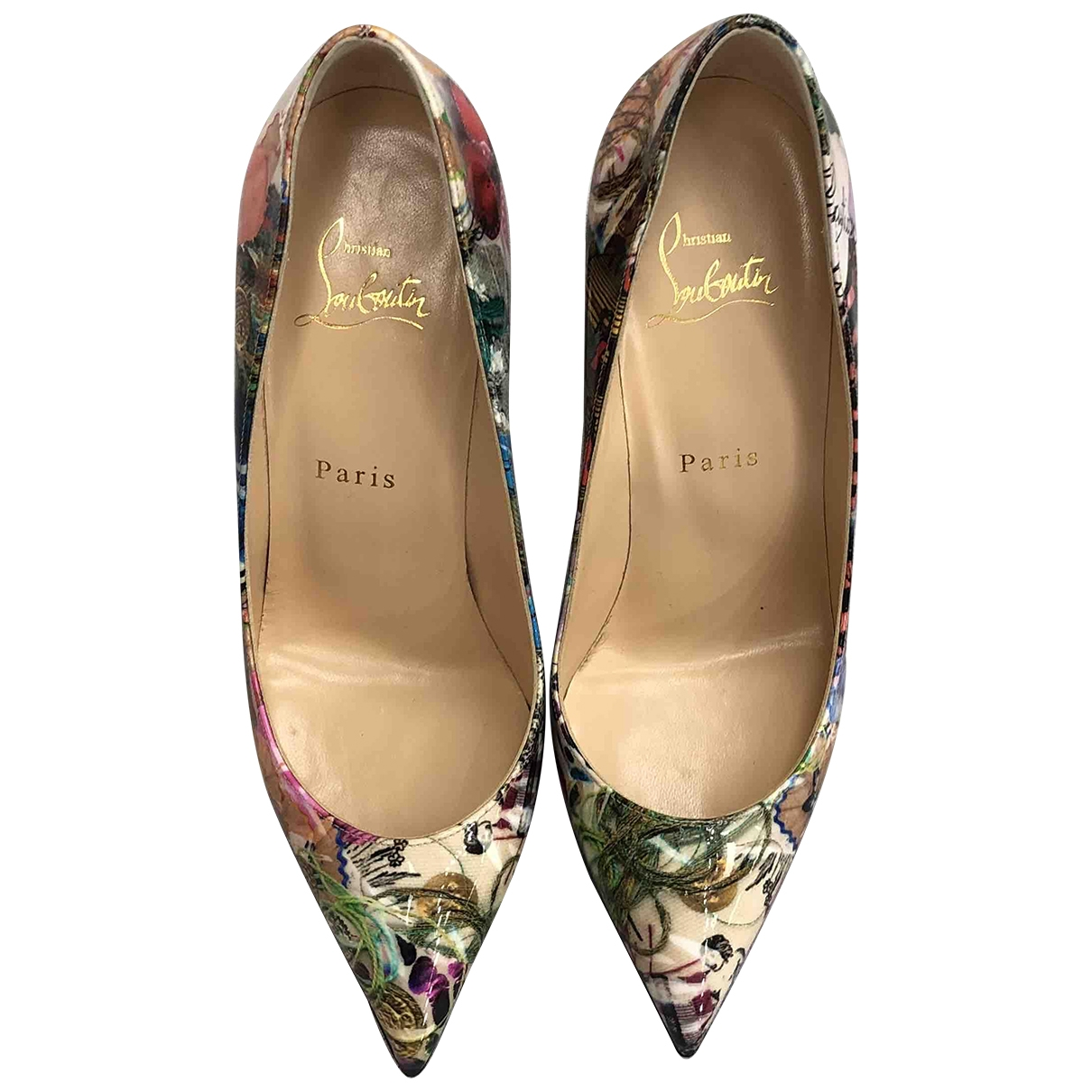 Christian Louboutin Pigalle Multicolour Patent leather Heels for Women 38 EU
