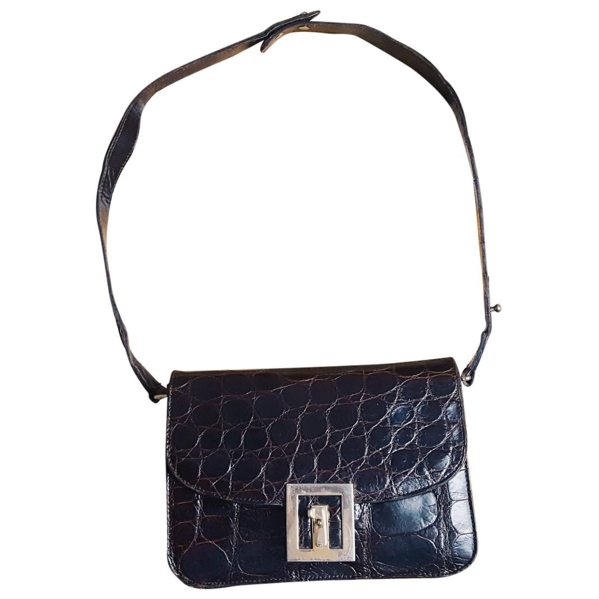 Non Signé / Unsigned N Brown Alligator handbag for Women N