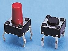 Alps Alpine Grey Keyboard Switch, Single Pole Single Throw (SPST) 50 mA @ 12 V dc 1.5mm (5)