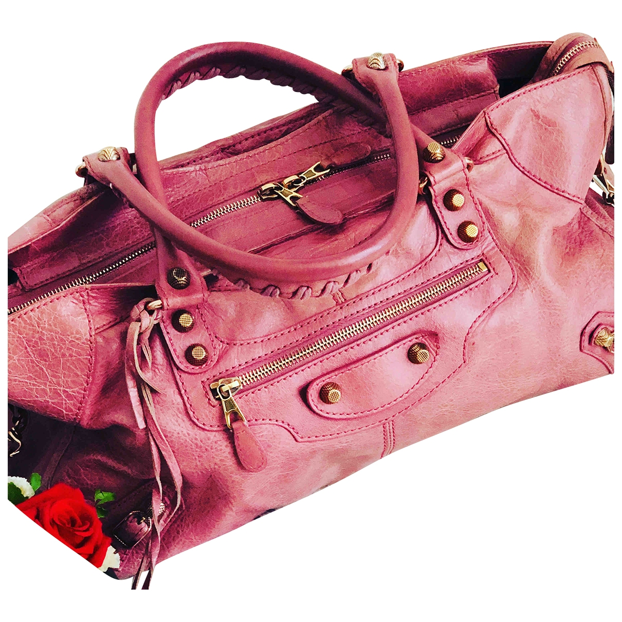 Balenciaga City Pink Leather handbag for Women \N