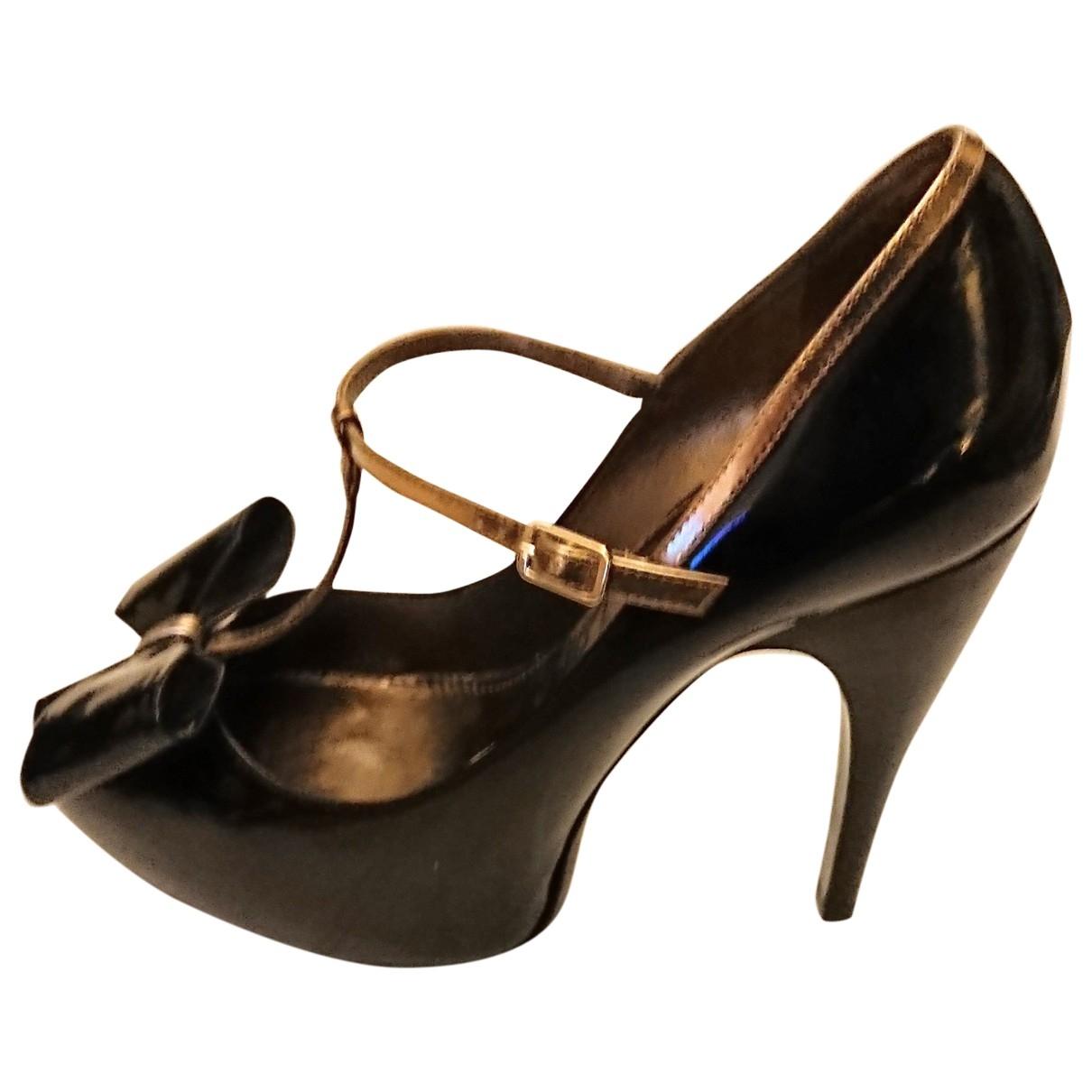 Lanvin - Escarpins   pour femme en cuir verni - noir