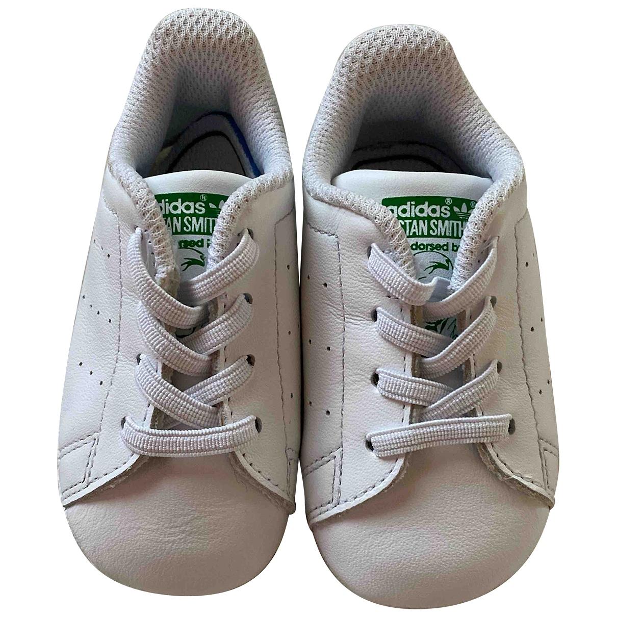 Adidas - Baskets   pour enfant en cuir - blanc