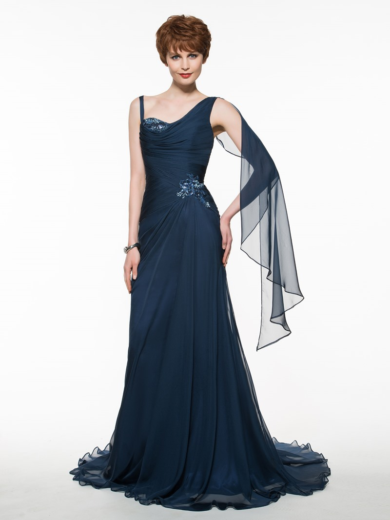 Ericdress Straps Sequins Appliques Sheath Mother Of The Bride Dress