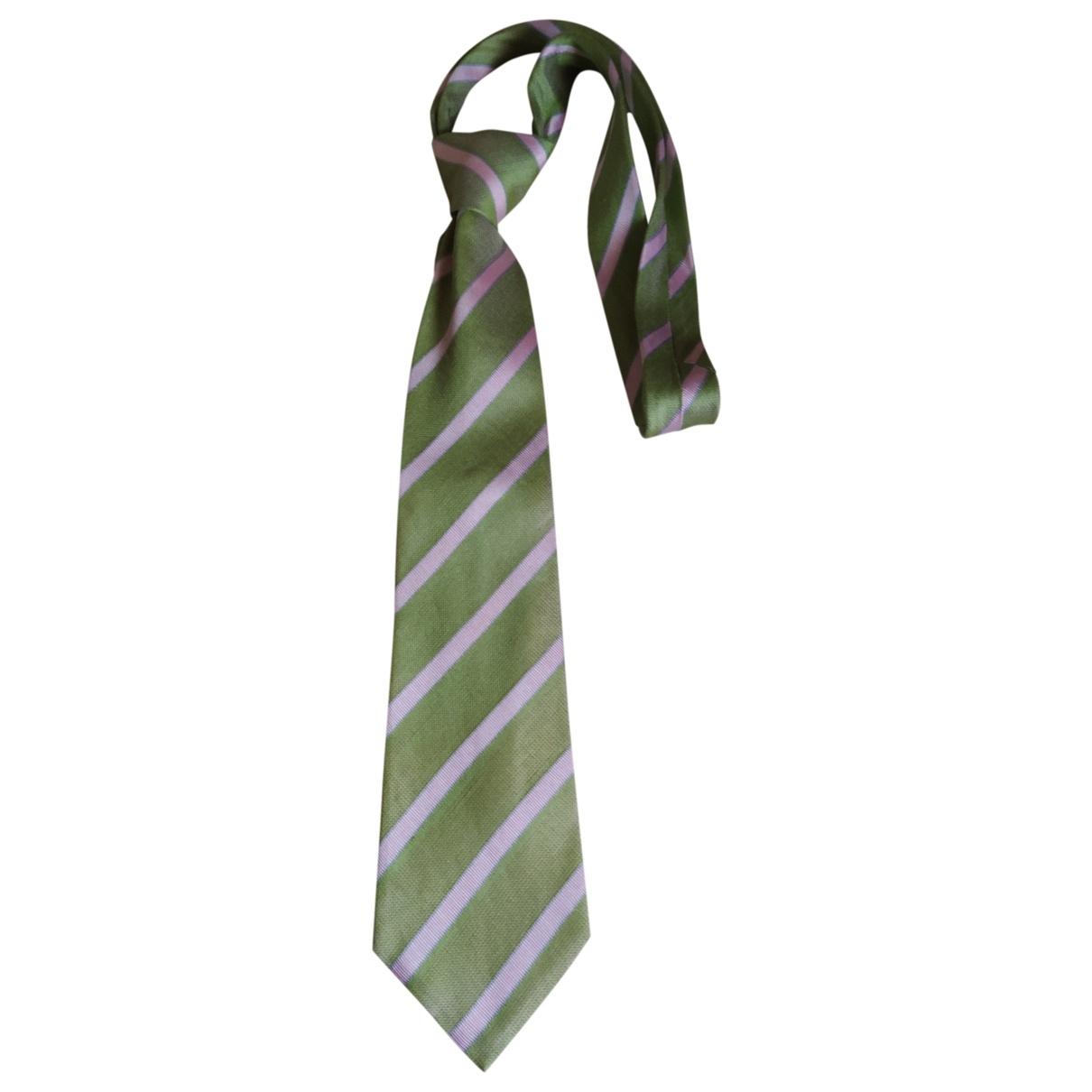 Loewe \N Krawatten in  Gruen Seide