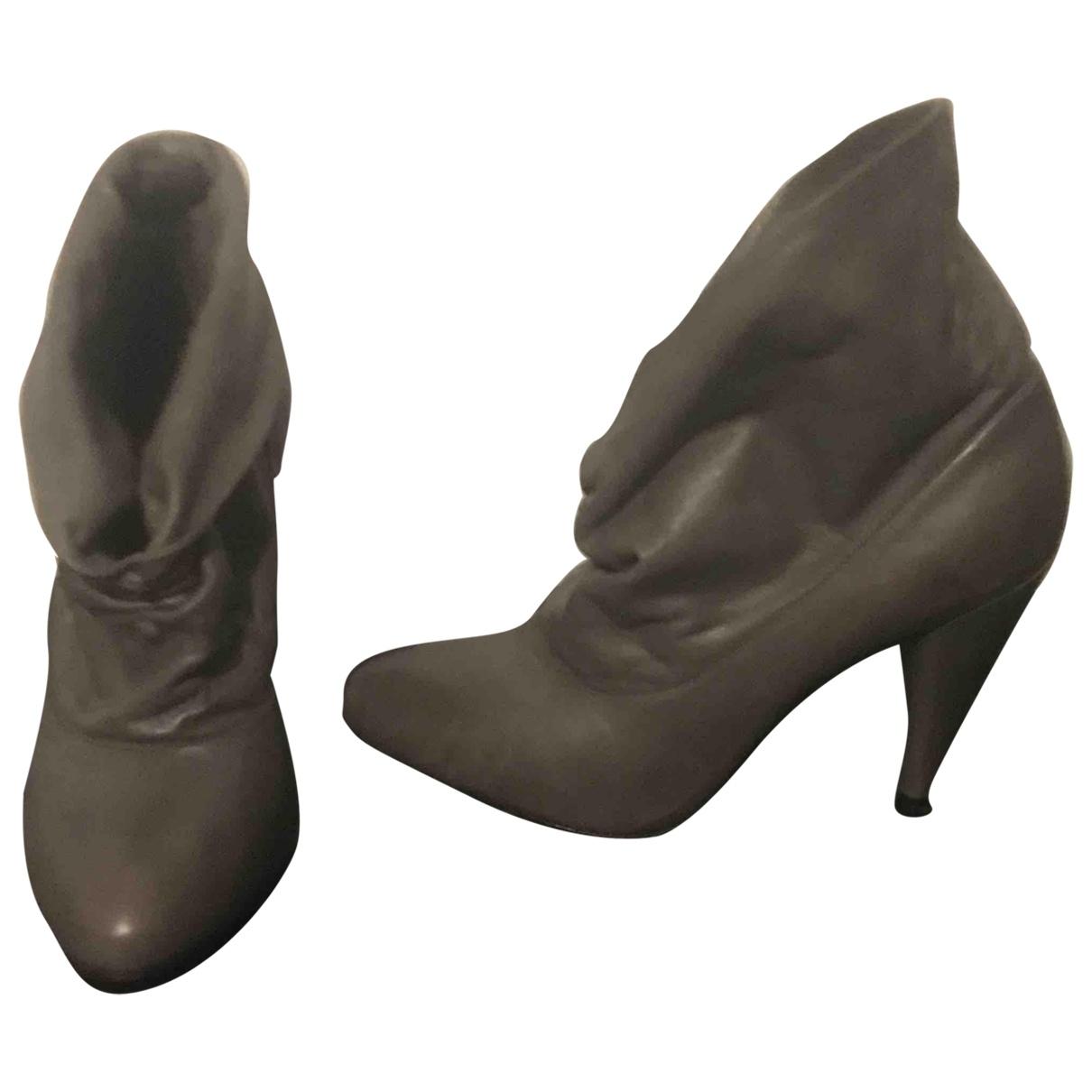Comptoir Des Cotonniers \N Stiefeletten in  Grau Leder