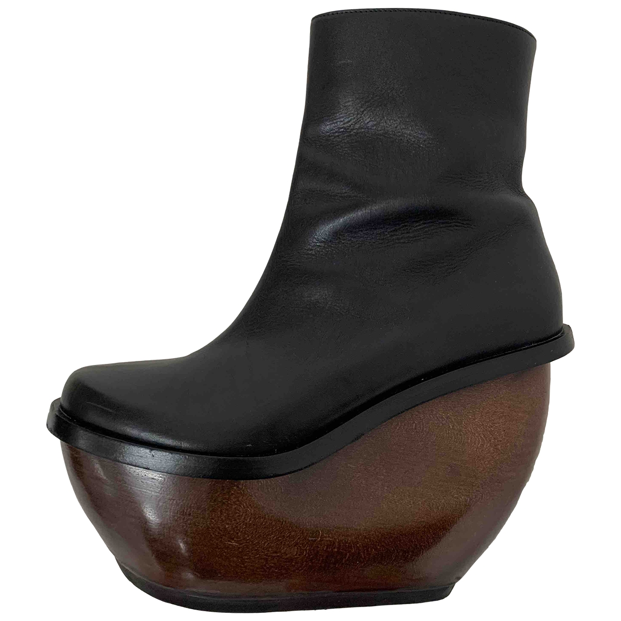 & Stories \N Black Leather Boots for Women 39 EU