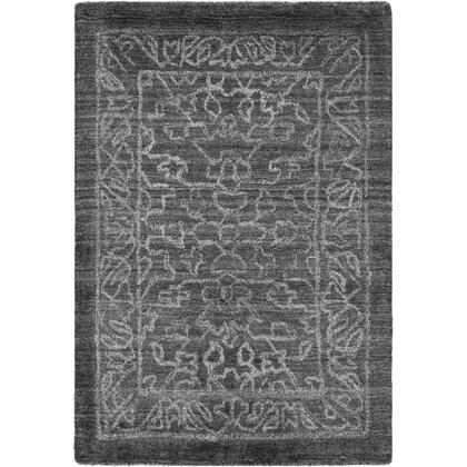 Hightower HTW-3002 2' x 3' Rectangle Traditional Rug in Charcoal  Light