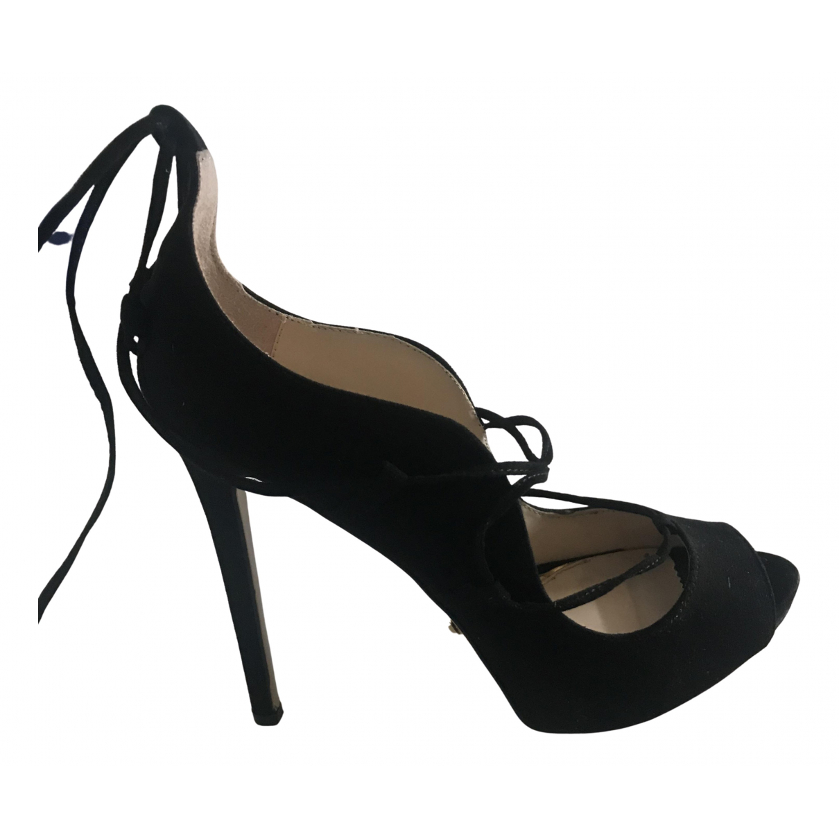 Non Signé / Unsigned N Black Suede Heels for Women 40 IT