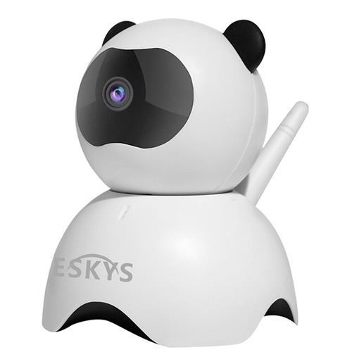 VESKYS C130-Panda 960P Smart WiFi IP Camera CMOS Motion Monitor Alarm P2P Night Vision Panda Security Camera -White