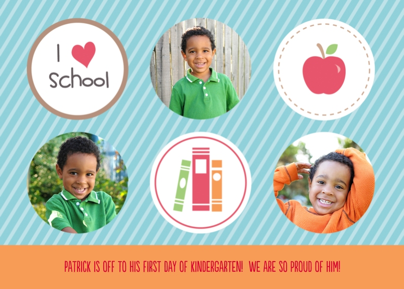 Back to School Mail-for-Me Premium 5x7 Flat Card, Card & Stationery -I Love School