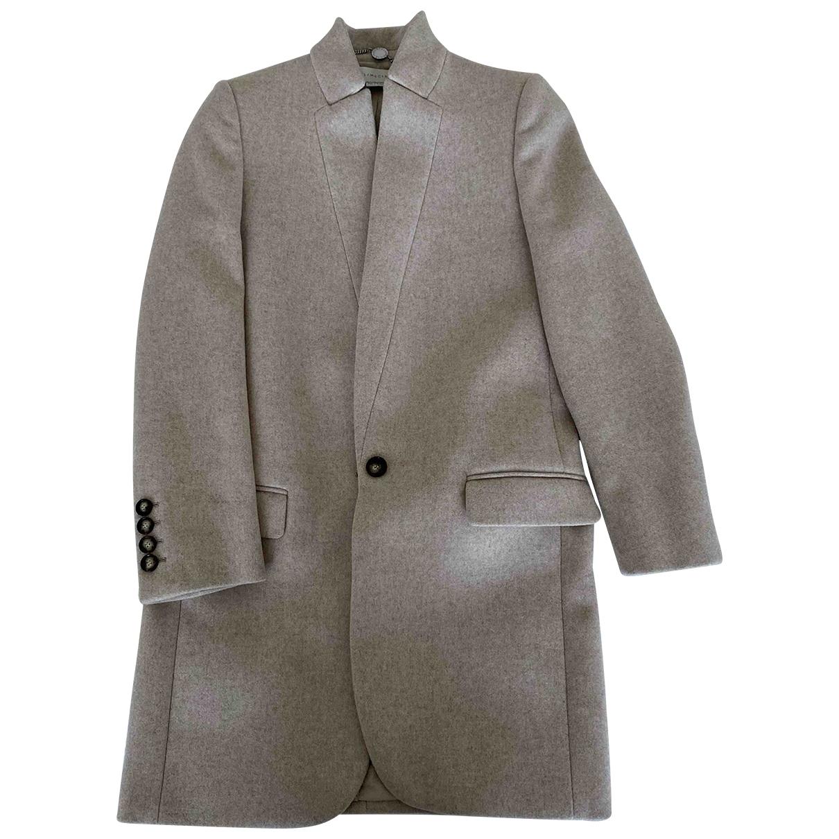 Stella Mccartney \N Beige Wool coat for Women 38 FR