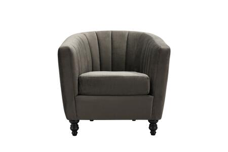 Avon Collection FAC9136-AC Accent Chair with Vertical Channel Tufting  Turned Wooden Legs  Contemporary Style  Plush Multi Density Foam Filled