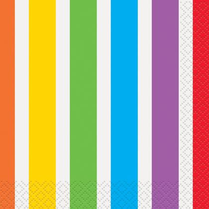 Rainbow Birthday Beverage Napkins, 16ct Pour la fête d'anniversaire
