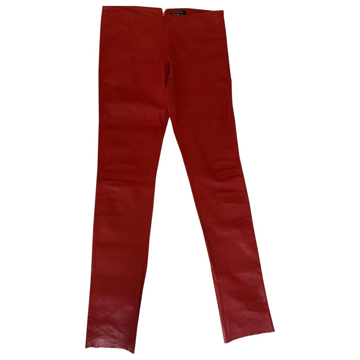 Pantalon pitillo de Cuero Jitrois