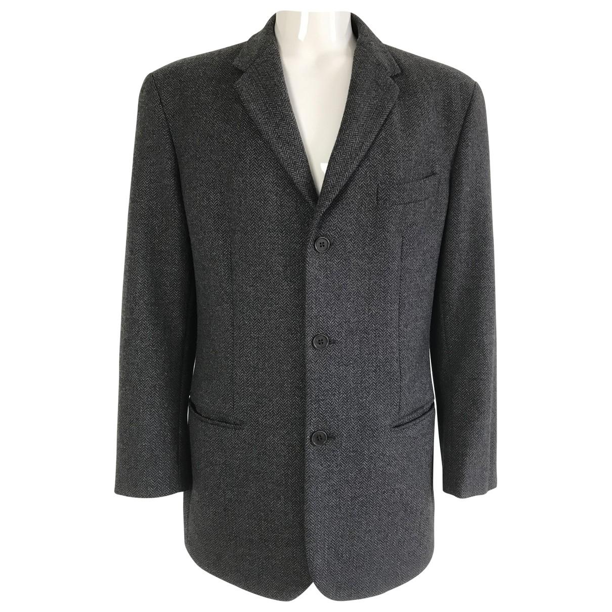 Emporio Armani - Vestes.Blousons   pour homme en laine - gris