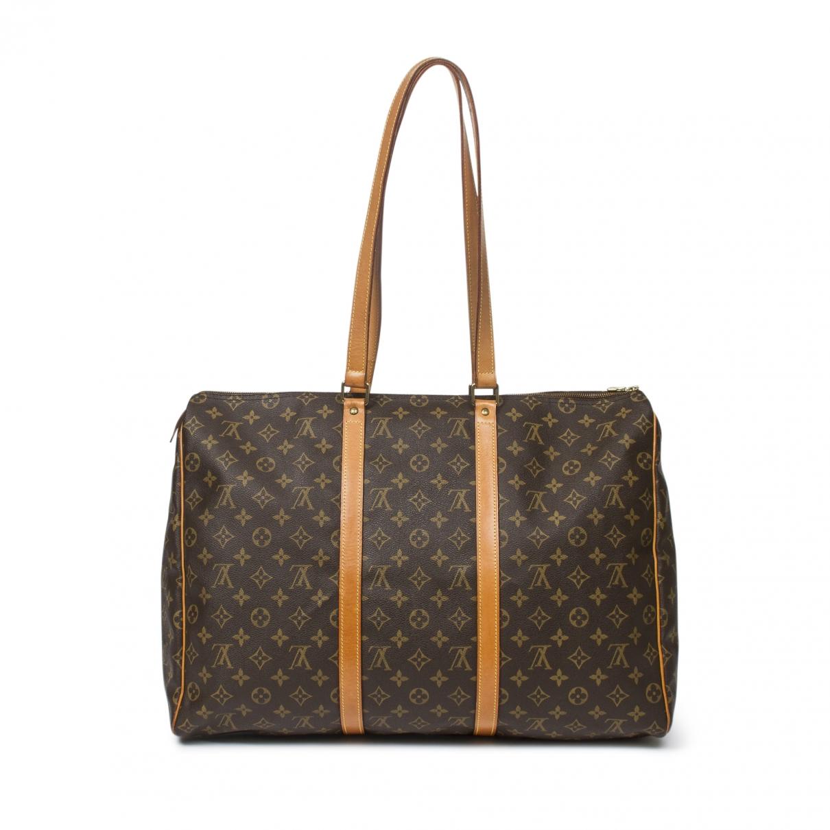 Louis Vuitton - Sac a main Flanerie pour femme en toile - marron