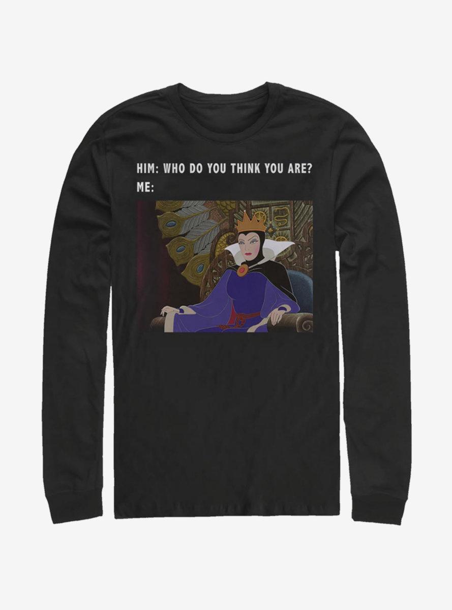 Disney Sleeping Beauty Evil Queen Meme Long-Sleeve T-Shirt