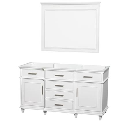 WCV171760SWHCXSXXM44 60 in. Single Bathroom Vanity in White with No Countertop and No Sink and 44 in.