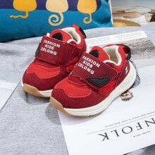 Toddler Girls Letter Graphic Velcro Strap Sneakers