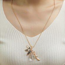 Halskette mit Strass Dekor