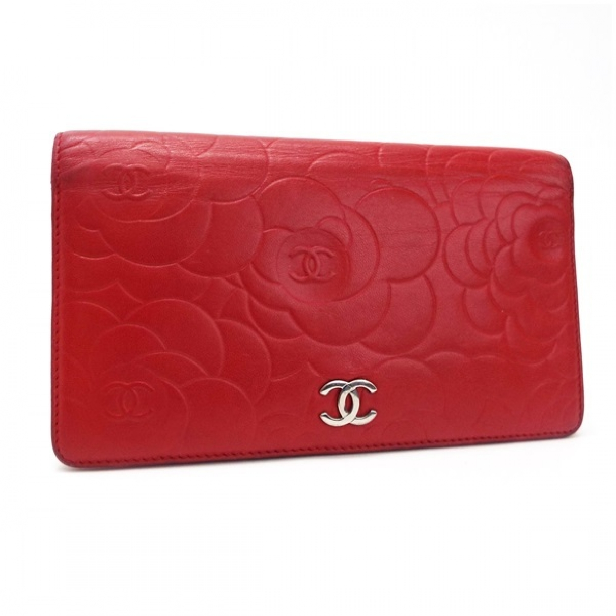 Chanel \N Portemonnaie in  Rot Leder