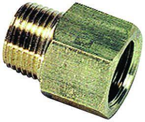 Legris LF3000 250 bar Brass Pneumatic Straight Threaded Adapter, R 3/4 Male To NPT 3/4 Female
