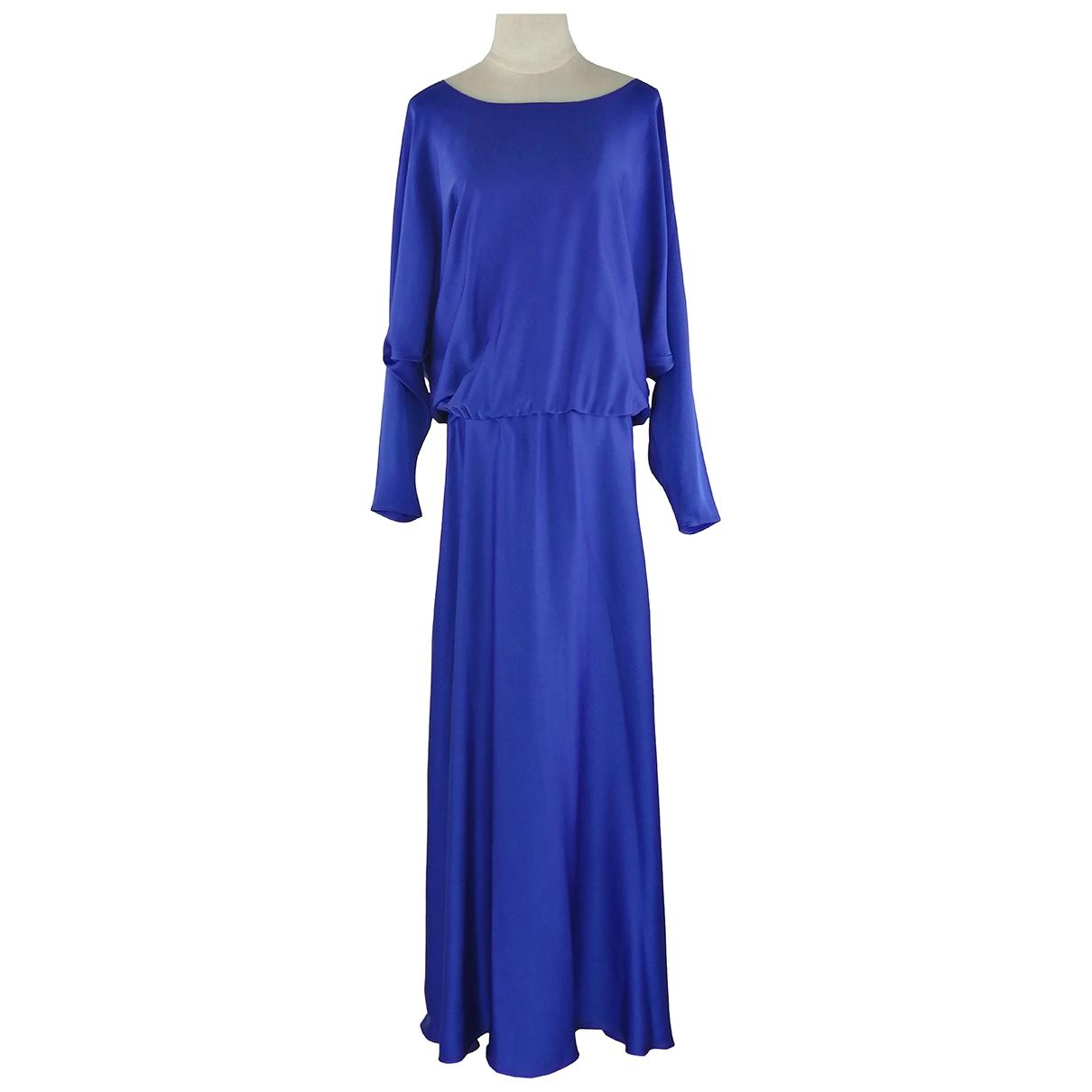 Lanvin \N Kleid in  Blau Viskose