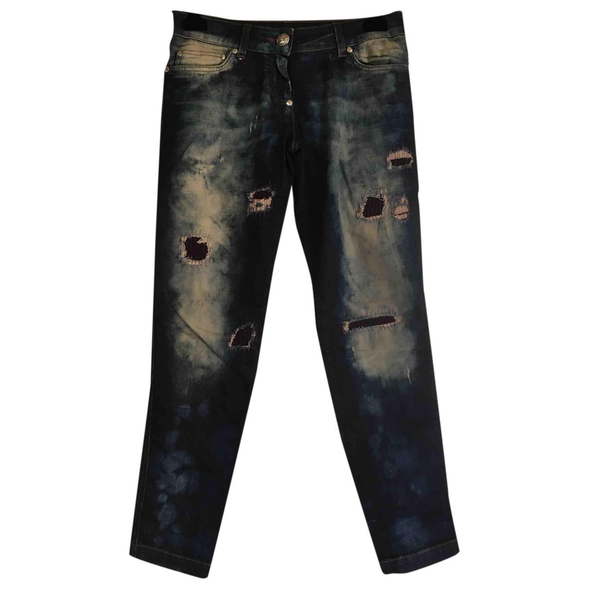 Philipp Plein \N Blue Cotton - elasthane Jeans for Women 26 US