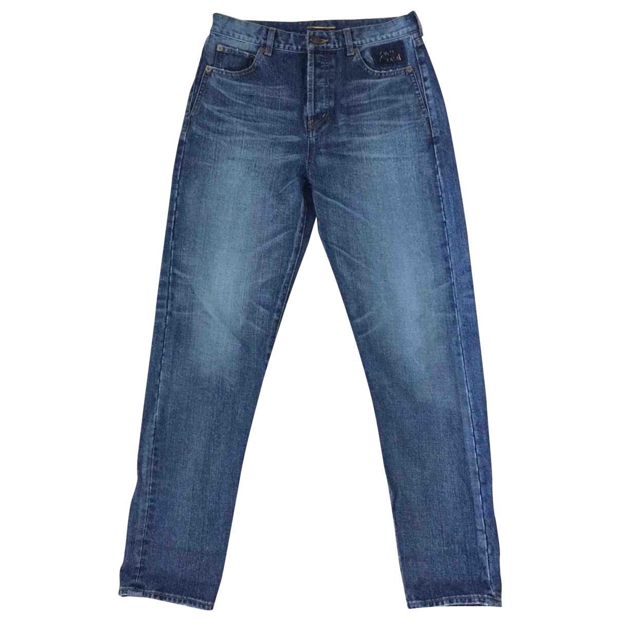 Saint Laurent \N Blue Cotton Jeans for Women 30 US