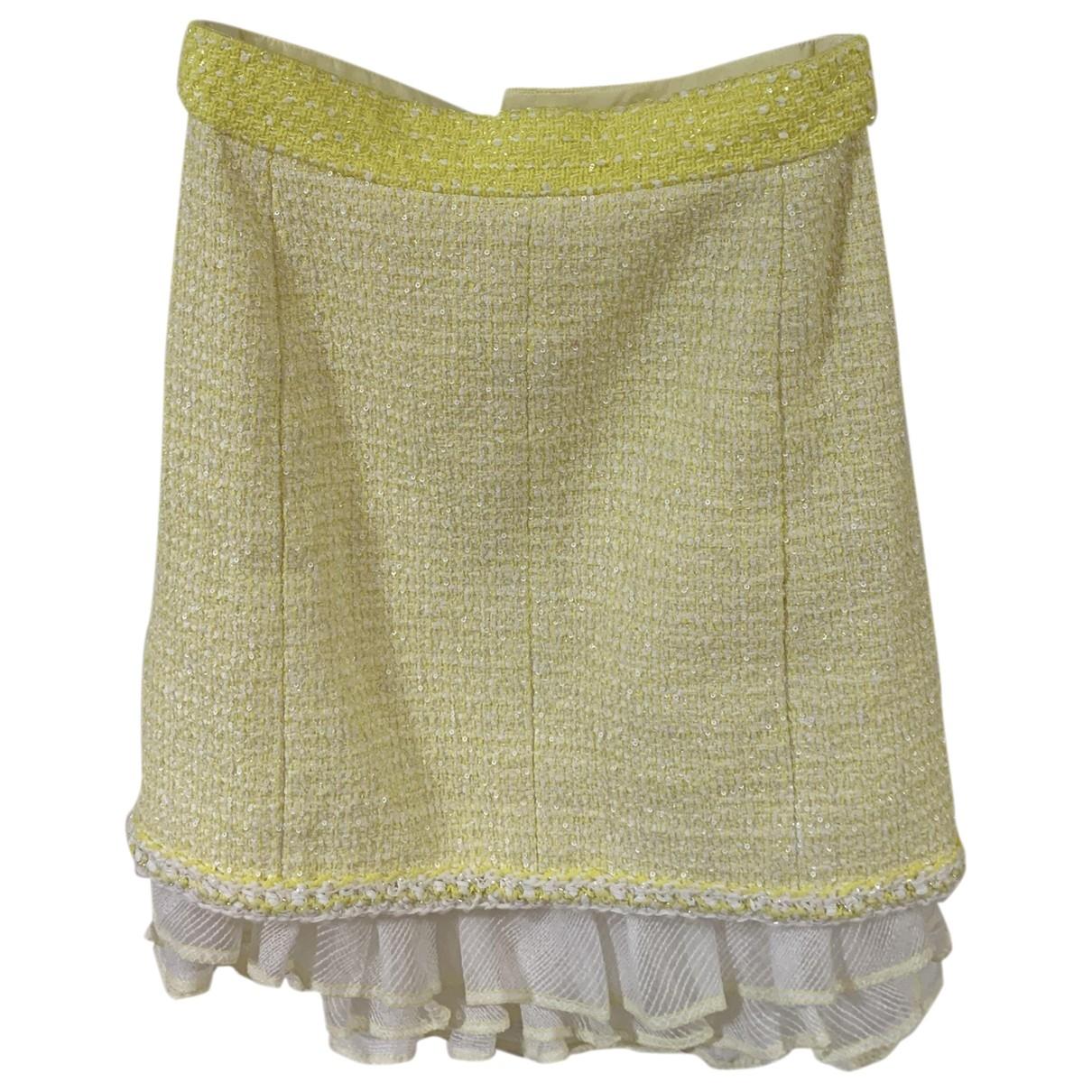 Chanel - Jupe   pour femme en tweed - jaune
