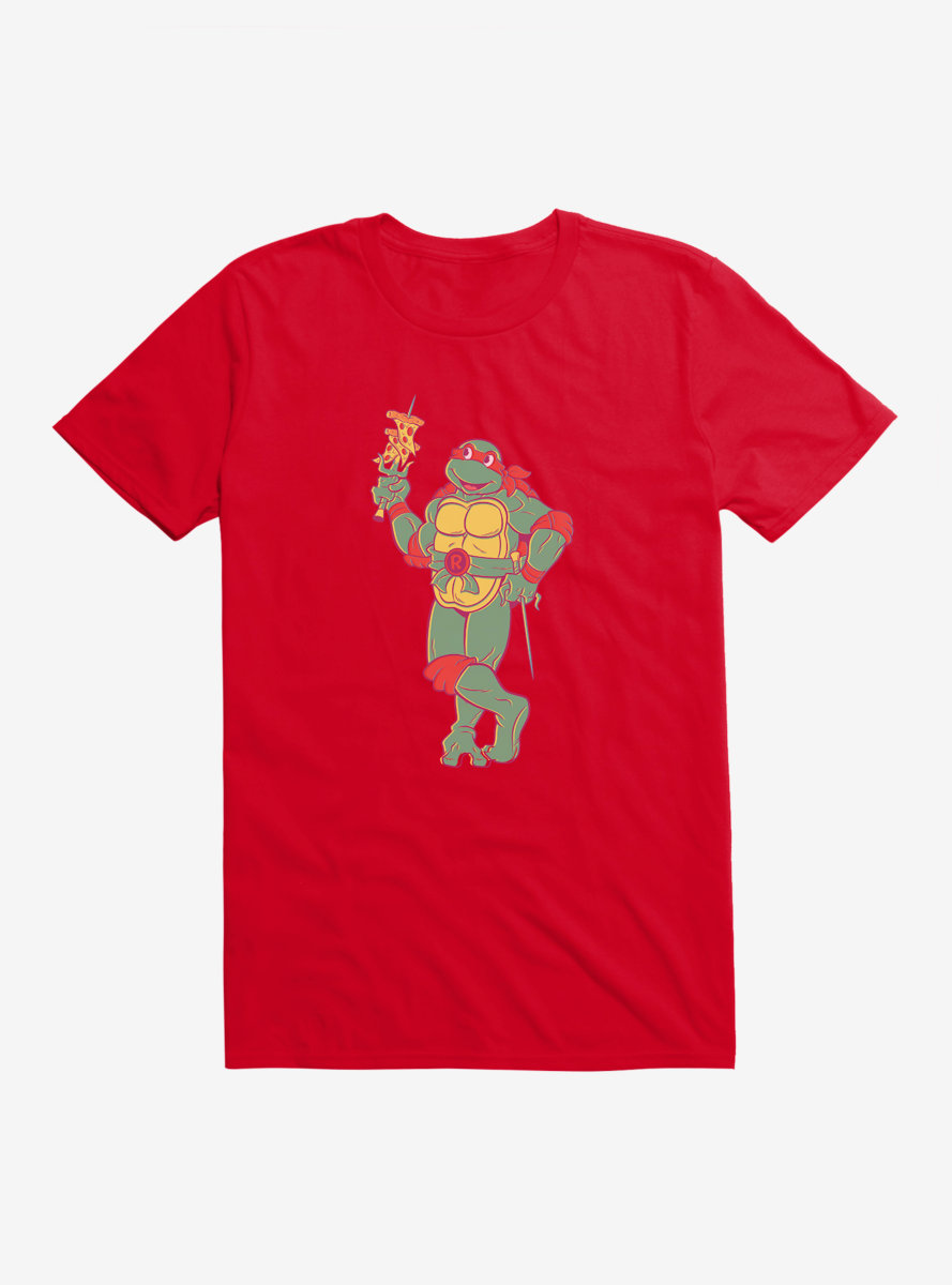 Teenage Mutant Ninja Turtles Raphael Eating Pizza T-Shirt