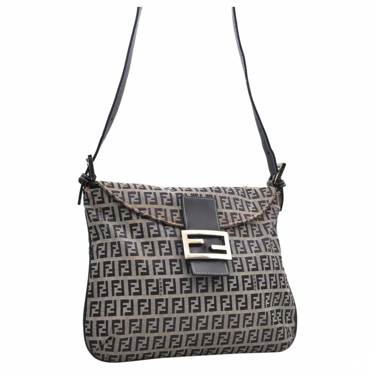 Fendi Mamma Baguette  Navy Cloth handbag for Women \N