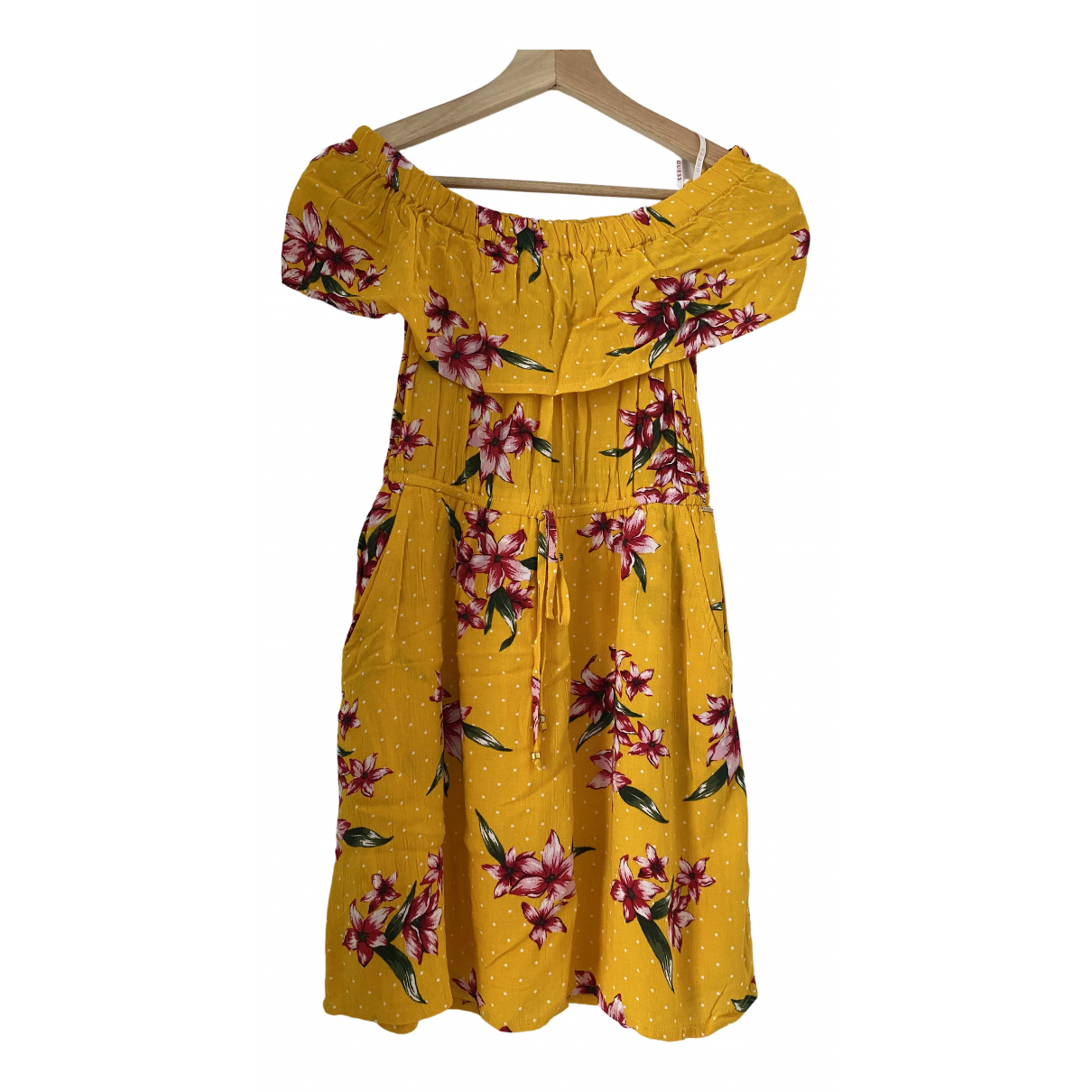 Guess - Robe   pour femme - jaune