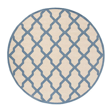 Safavieh Linden Collection Neasa Geometric Round Area Rug, One Size , Multiple Colors