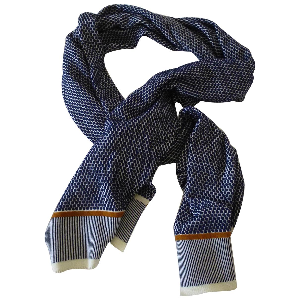- Foulard   pour femme en laine - bleu