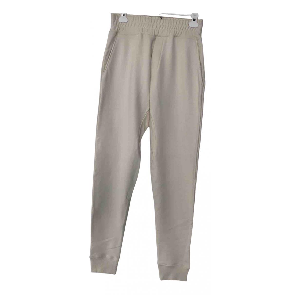 Pantalones en Algodon Beige Ih Nom Uh Nit