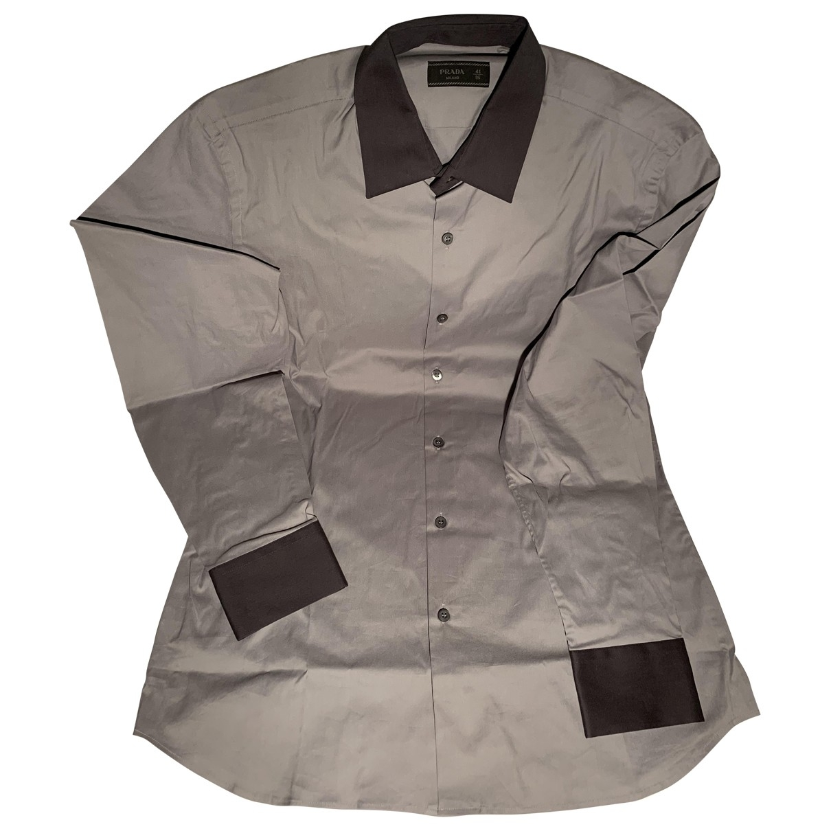 Prada \N Grey Cotton Shirts for Men 41 EU (tour de cou / collar)