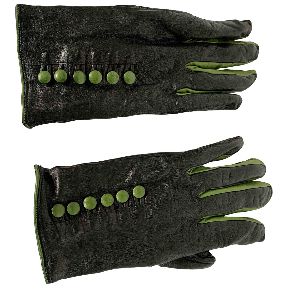 - Gants   pour femme en cuir - noir